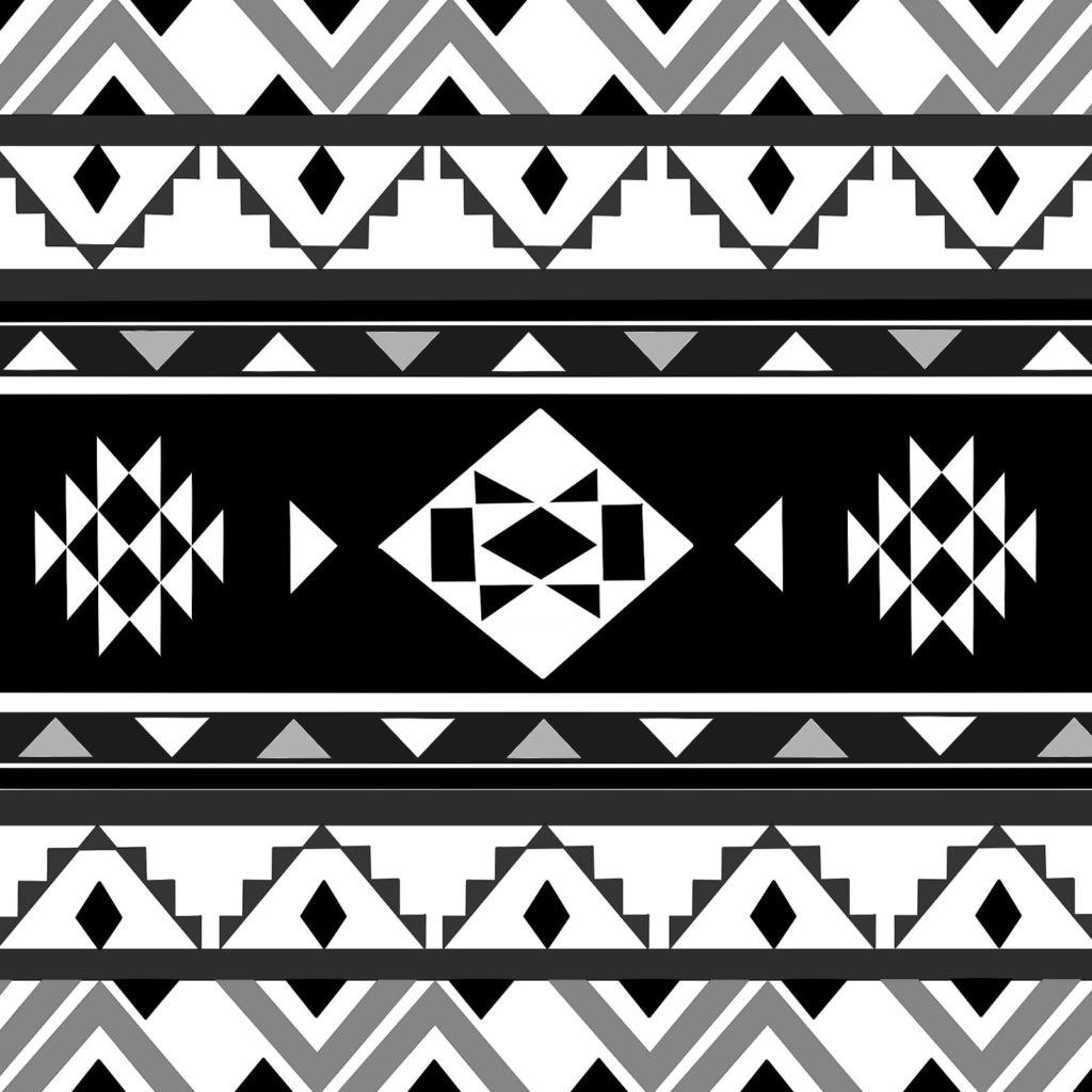 オルテガ柄、白黒のイラスト