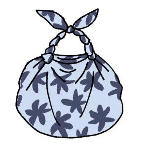風呂敷バッグのイラスト