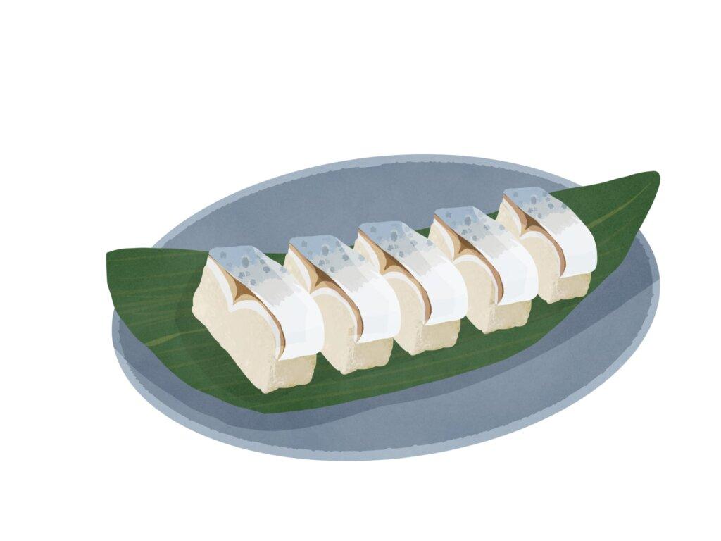 押し寿司のイラスト